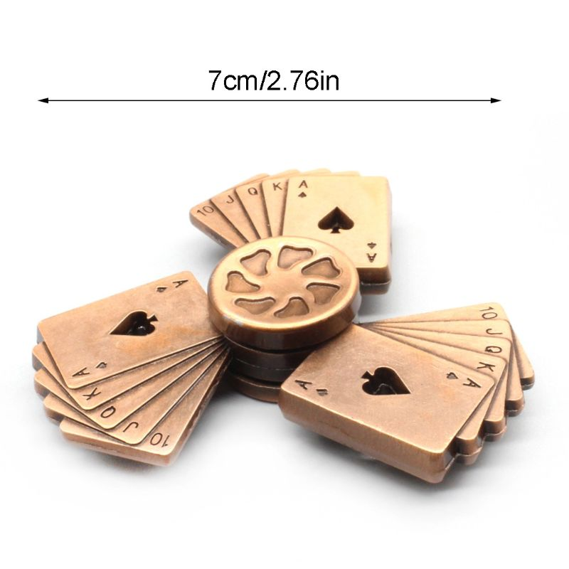 Poker Style Hand Spinner Zinc Alloy Bearing High Speed Spinning Game Relief Toy