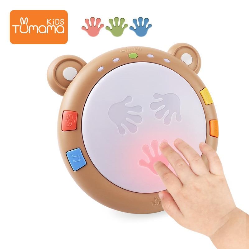 Tumama Детские ручные хлопающие барабанные музыкальные игрушки ранняя развивающая интеллектуальная игрушка барабан подарки для детей