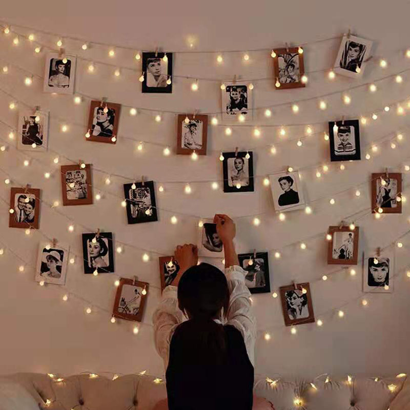1.5/3/6/10M LED String Lights Battery Powered Waterproof Ball Fairy Lights Garland Light For Christmas Wedding Party Decoration
