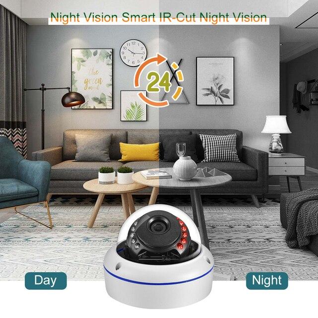 Gadinan SONY IMX335 5MP Onvif telecamera IP microfono interno rilevazione di movimento led IR telecamera Dome esterna accesso remoto Xmeye 3