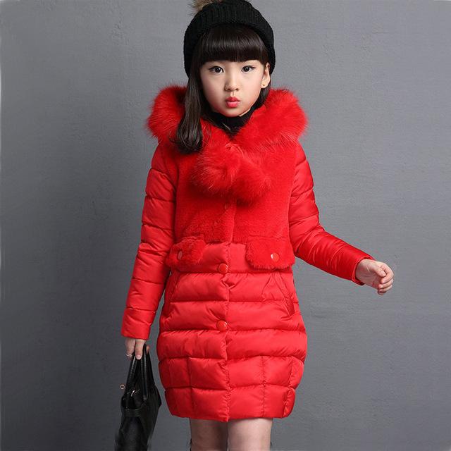 Winter Parka For Girls Warm Long Fur Winter Jackets