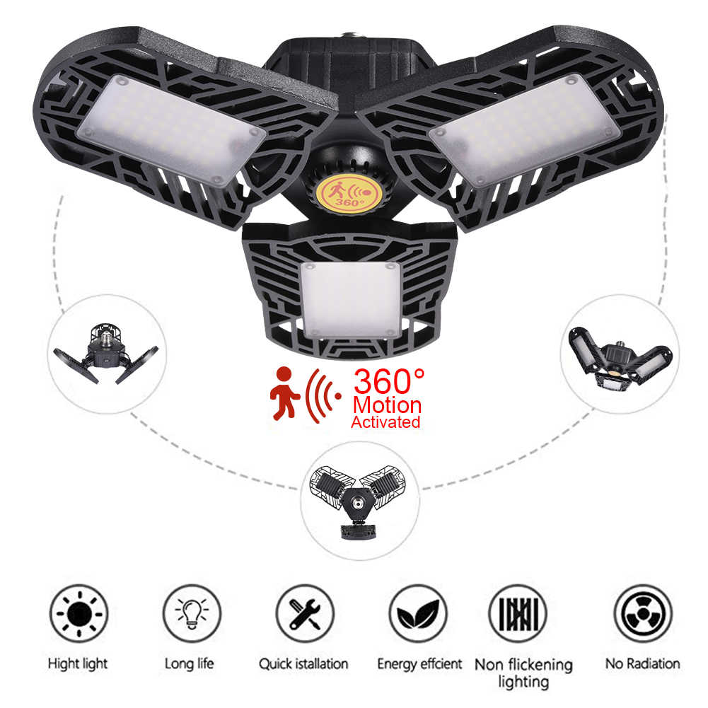 Deformation UFO Led Light E27 High Bay Light Garage Lamp 60W 85-265v LED Lights For Gas Station Canopy Workshop Football Field
