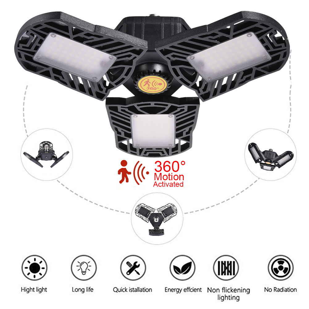 Деформационный светодиодный светильник УФО E27 High Bay Light гаражная лампа 60 Вт 85-265 в светодиодный фонарь для навес АЗС мастерская футбольного п...