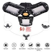 Deformación luz LED UFO E27 campana montaje alto luz garaje lámpara 60W 85 265v LED luces para estación de Gas dosel taller campo de fútbol|Iluminación industrial| |  -
