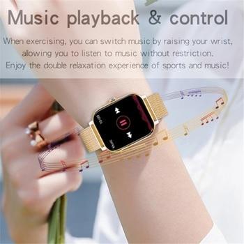 2021 New Women Smart watch Men 1.69″ Color Screen Full touch Fitness Tracker Bluetooth Call Smart Clock Ladies Smart Watch Women 6