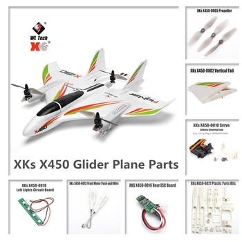цена на WLtoys XKS X450 RC Glider Plane Spare Parts Motor Circuit board Servo Tail Blades Screw Shell Propeller Receiver ESC Accessories