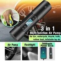 150PSI 12V Portable Air Compressor Mini Inflator Handheld Air Pump Cordless Electric Pump Power Bank For Car Motorcycle Tire