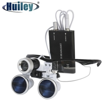 3.5X Dental Loupes with LED Head Light for Surgery Optical Glass Lens Magnifying Glasses Dental Surgery Relieve Visual Fatigue universal dental optical fiber guide rod tips for dental led curing light lamp 8 types for choose