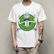 New Men's T-shirt crewneck loose rick and morty printed T shirt casual mens tshirt