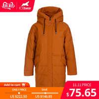 ICEbear 2019 delle nuove donne di inverno di modo del rivestimento delle signore calde giacca con cappuccio abbigliamento donna di marca D4YY83016Y