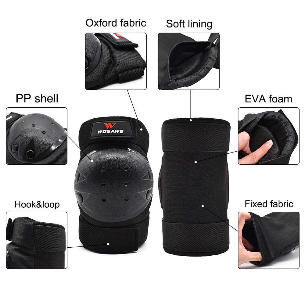 WOSAWE EVA Foam Motorcycle Knee Protector Downhill Protective Gear Guard Roller Skateboard Snowboard Sport Elbow Protection Pad in Motorcycle Protective Kneepad from Automobiles Motorcycles