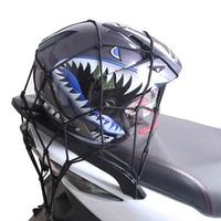 1 Pcs Motorrad Bike Gepäck Net Elastische Mesh Tasche Helm Halter 6 Einstellbare Haken Drücken Kraftstoff Tank Gepäck Helm Fracht