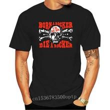 Uk Subs Born A Rocker Die A Rocker Shirt Punk Oi Adolescents Discharge Gbh Men summer winter long Sleeves T Shirt coat tops