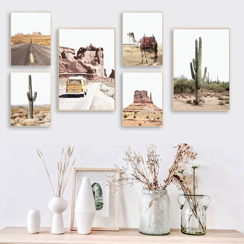 Southwestern Decor Boho Arizona Desert Cacti Print Travel Posters Gallery Wall Art Pictures Canvas Painting Home Decoration