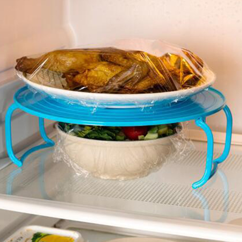 4 In 1 Microwave Plastic Stand Shelf Mini Heating Food Tray Cooling Rack Multifunction Kitchen Tool THIN889