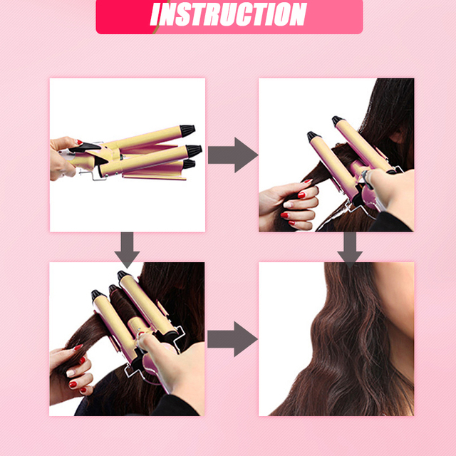 hair care & styling tools curler iron hair curling irons rotating style curl hair styler Ceramic Anti-Scald Wave Curler  4 6