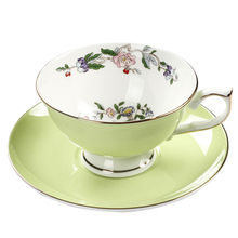 England Porcelain Coffee Cup Vintage flower Ceramic Cups And Saucers Set Countryside style Tea afetrnoon tea party Drinkware