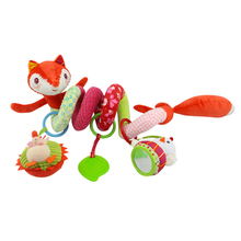 Rattle Baby Toys 0 6 12 Months Mobile On The Bed Bell Newborn Crib Educational Toys 0 Soft Hanging Stroller Rattles For Kids Fox