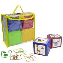 Godery DIY Onderwijs Dobbelen, Pocket Cubes, Foto Pocket Foam Stapelen Blokken Set van 4