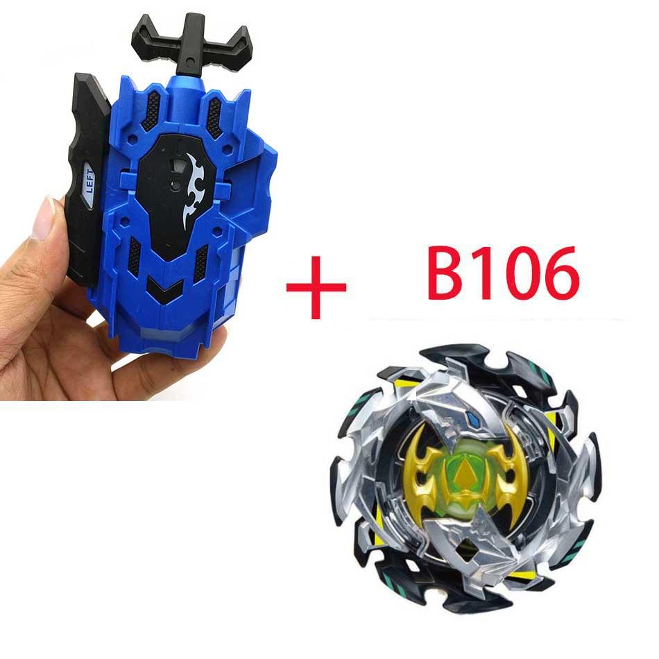 Волчок Beyblade BURST B-130 B-117 с пусковым устройством Bayblade Bay blade металл пластик Fusion 4D Подарочные игрушки для детей - Цвет: B106