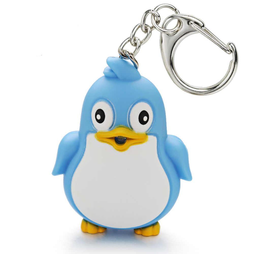Милый пингвин брелок светодиодный фонарь со звуком светильник брелок Детская игрушка подарок забавное животное брелок Fash светильник брелок K391
