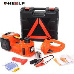 E-HEELP 5Ton 3 Trong 1 Điện Thủy Lực Kích Xe Với Tác Động Cờ Lê & Máy Bơm Hơi Lốp Xe Ô Tô Jack Cắm Tích đèn Led A01