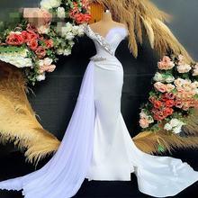 Vestidos de noiva Новое Перо белое вечернее платье с v образным