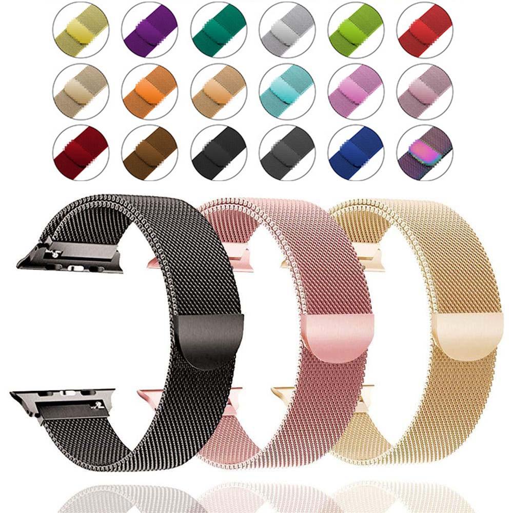 Band For Apple Watch 4 5 1/2/3 Loop Bracelet Stainless Steel Milanese 42mm 38mm Bracelet