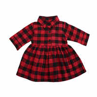 Ma y 6M-4Y Navidad Infantil Niño chico bebé niñas vestido de rojo Plaid de manga larga Tutu vestidos de fiesta para niña de Año Nuevo de Navidad