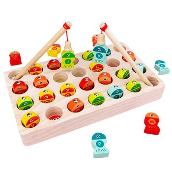 26pcs wooden english alphabet blocks cubes letters educational game toys kids reading learning letters cubes Wooden Magnetic Fishing Game Toy Kids Early Educational Learning Gifts Alphabet Letters Puzzles