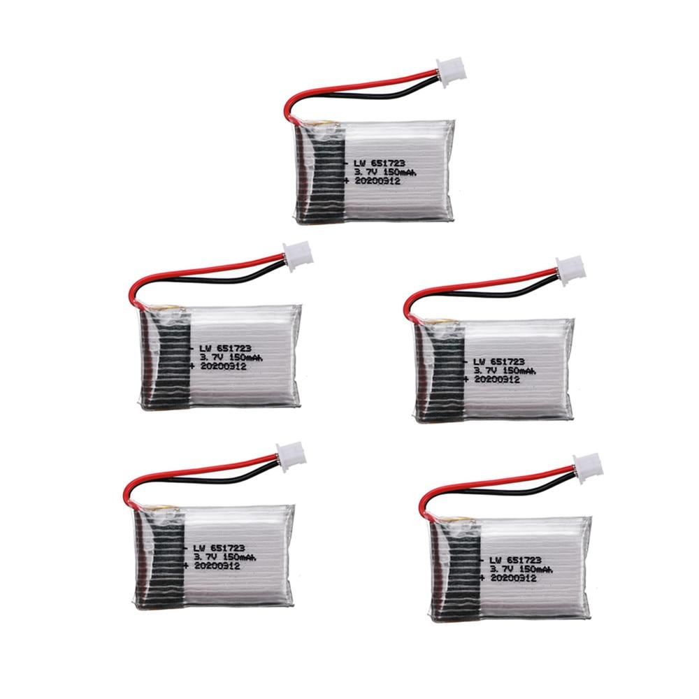 Литий-полимерный аккумулятор 3,7 в 150 мАч для H20 Syma S8 M67 U839 Запчасти для радиоуправляемого квадрокоптера 3,7 в 651723 батарея для радиоуправляемого...