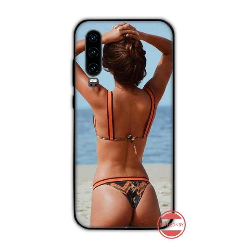 Seksi Bikini Gadis Coque Shell Phone Case untuk Huawei Y5 Y6 II Y7 Y9 Prime 2018 2019 NOVA3E P20 pro P10 Kehormatan 10