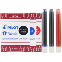 Piloto namiki ic50 caneta caneta cartucho de tinta preto/azul/vermelho escrita suprimentos IC 50 3 pacotes/6 pacotes/12 pacotes   -