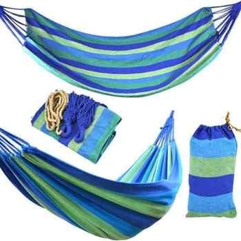 Ultralight Camping Hammock with backpack Hot Sale rainbow Outdoor Leisure Portable Hammock canvas Hammocks 2020 hot sealing