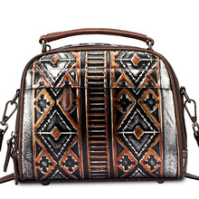 Cow Leather Women Top-handle Bag Personality Embossing Crossbody Shoulder Bag Women Sac A Main Femme De Marque Luxe Cuir
