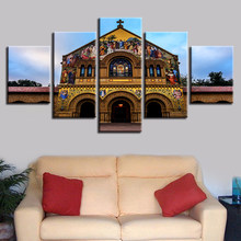 Church with exquisite frescoes 5pcs Modern Home Wall Decor CanvasPicture Art HD Print Painting On Canvas for Living Room
