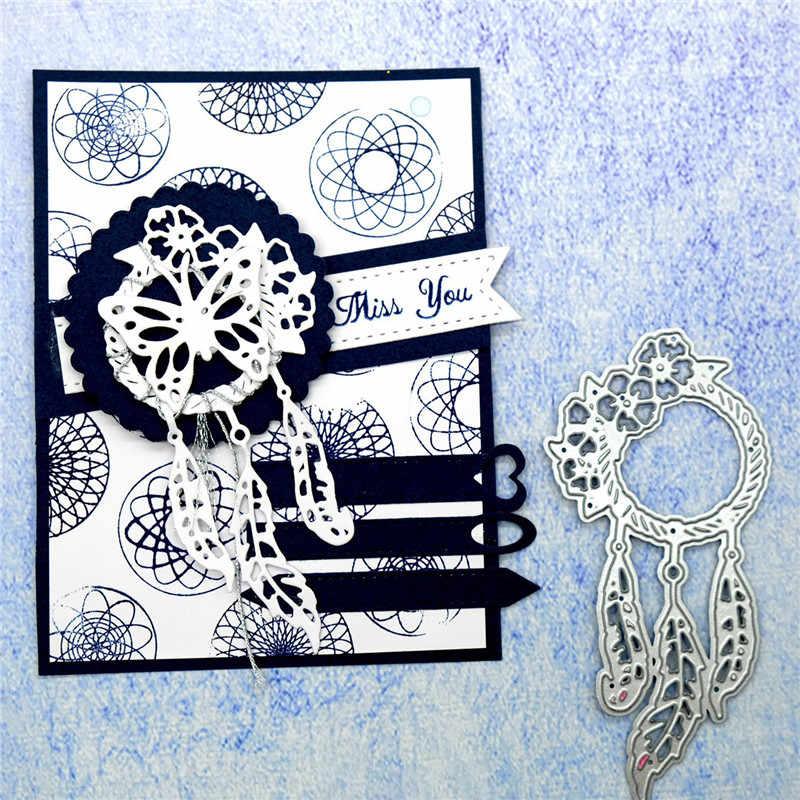 yulengro dreamcatcher Metal Cutting Dies Stencil Handmade Crafts Paper Card DIY