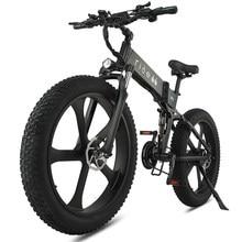 Vélo électrique 48v, 12,8 ah, 1000W, 50 km/h Max, gros pneu, Portable, pour la plage