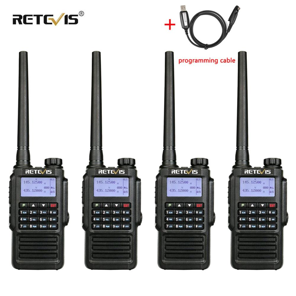 IP67 Waterproof Walkie Talkie 4pcs RETEVIS RT87 Professional Long Range UHF (or VHF) Hands Free FM Two Way Radio Walkie-Talkie