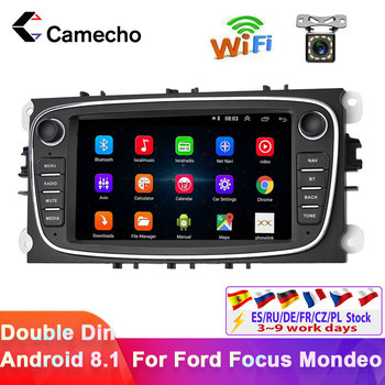 Camecho 2 din 7 Android 8.1 Car Radio GPS Multimedia Player GPS Navi For Ford Focus EXI MT 2 3 Mk2/Mondeo/S-MAX/C-MAX/Galaxy image