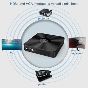 T92 4G 64G Windows10 Mini PC Atom CherryTrail X5-Z8350 Quad Core Dual WiFi HD VGA Display Windows 10 Media Player TV Box image