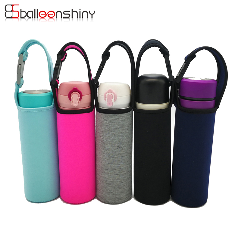 BalleenShiny Water Bottles Cover Sleeve Carrier Warm Heat Insulation Water Bottle Bags Creative New Cloth Thermos Cup Bag