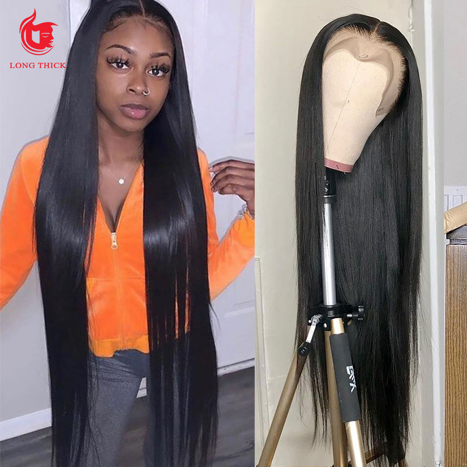 Straight Lace Front Wig Bob Wig Lace Front  Wigs  30 Inch Virgin Hair Wigs Bone Straight  Wig 1