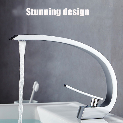Full copper basin hot and cold water faucet bathroom faucet single  dragon faucet  gold bathroom faucets  sensor kitchen faucet