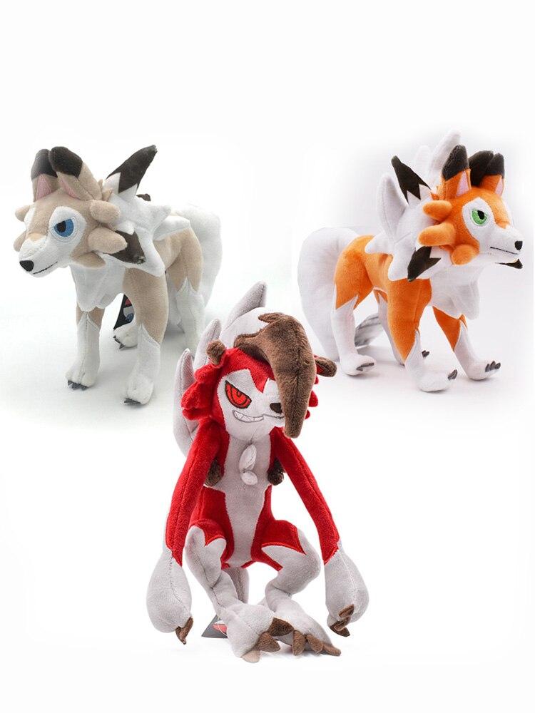 Animal Plush-Doll Hot-Toys Dusk Night Solgaleo Alola Sun/Moon Lycanroc 3-Styles Daytime