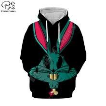 PLstar Cosmos Bugs Bunny casual cartoon Harajuku 3D Printed Hoodie/Sweatshirt/Jacket/shirts Men Women hiphop funny fit style-2