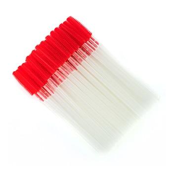 100Pcs Transparent Silicone Makeup Eyelash Brush Comb Mascara Wands Eye Lashes Extension Tool Eyebrow Brush Lashes Make Up Tools