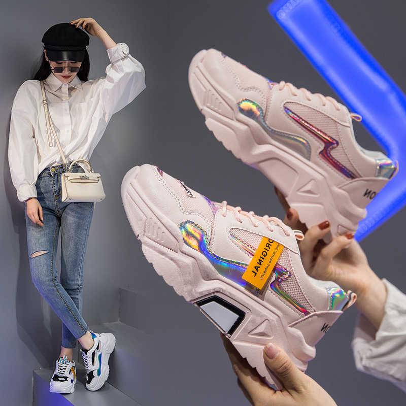 Leishen 2020 נשים נעליים חדשות סניקרס אופנה מקרית Camfortable נשים לגפר נעלי פלטפורמה שטוחה הנעלה Femme Krasovki
