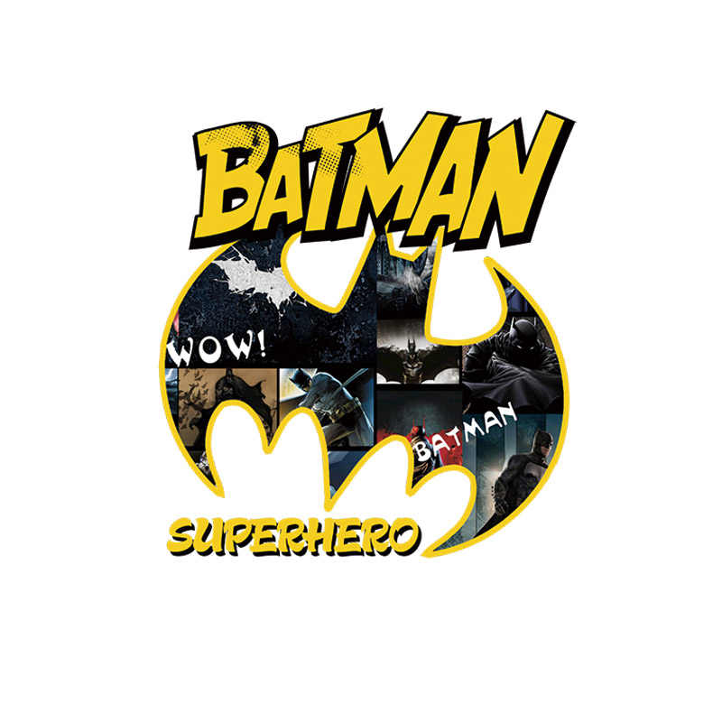 1PCS Marvel Bat Man Icona Hero di Stampa Per Bambini FAI DA TE Accessori T-Shirt Patch di Trasferimento Termico Applique sensibile Al Calore di Ferro su