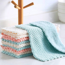 3PCS/Lot New Soft Fleece Cleaning Towel 25 x 25cm Absorbable Glass Home Kitchen Cleaning Cloth Wipes Table Window Car Dish Towel(China)